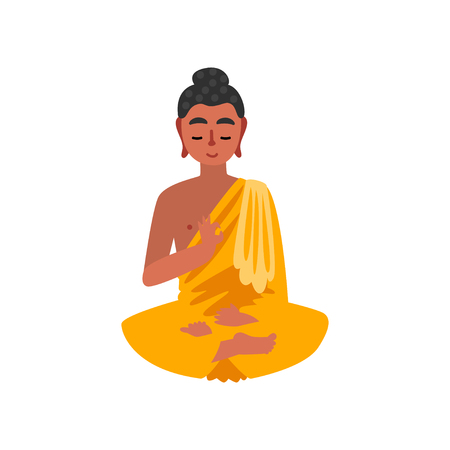 Sitting Buddha vector Illustration on a white background