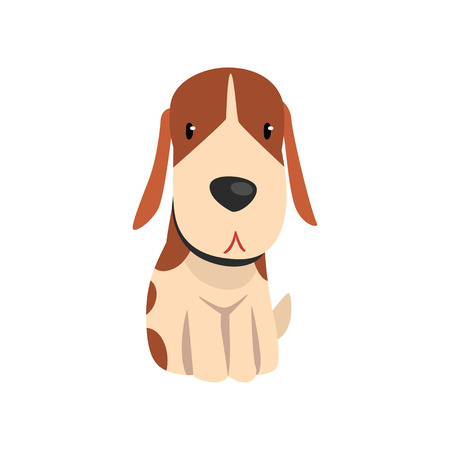 Cute beagle dog  animal cartoon character vector Illustration on a white background Illustration