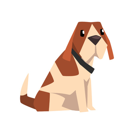 Beagle dog, cute  animal cartoon character vector Illustration on a white background Illustration
