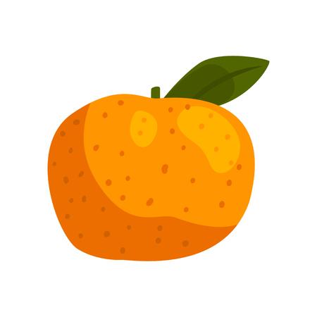 Mandarino fresco frutta vettoriale illustrazione isolato su sfondo bianco.