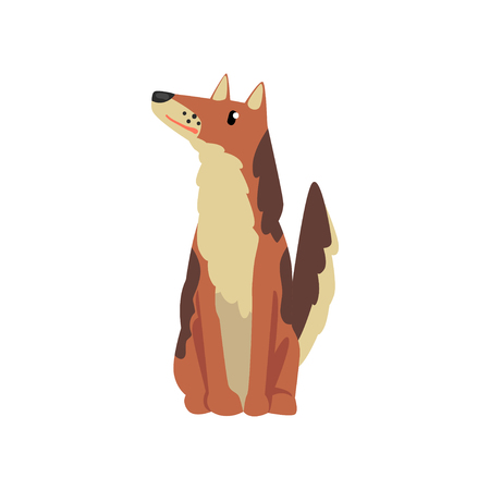 Cute dog, funny pet character, furry human friend vector Illustration