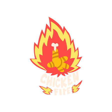 Chicken fire, hot creative design element vector Illustration Stock Illustratie