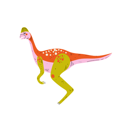 Colorful Dinosaur, Cute Prehistoric Animal Vector Illustration Stock Illustratie