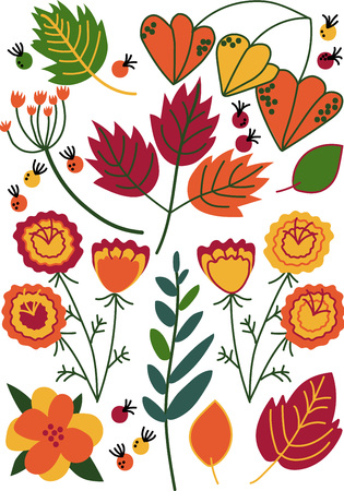 Beautiful Colorful Wild Blooming Flowers, Herbs, Herbaceous Flowering Plants, Floral Seamless Pattern, Seasonal Decor Vector Illustration Banco de Imagens - 118649770