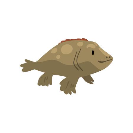 Prehistoric Fish, Biology Evolution Stage Vector Illustration