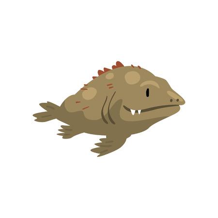 Prehistoric Fish, Biology Evolution Stage, Evolutionary Gradual Development Vector Illustration Çizim