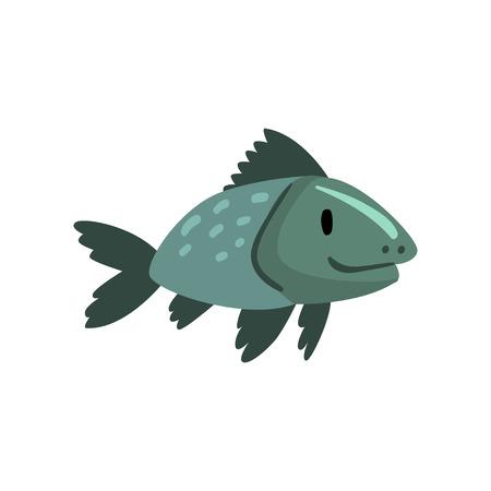 Prehistoric Fish, Biology Evolution Stage, Gradual Development Vector Illustration Çizim