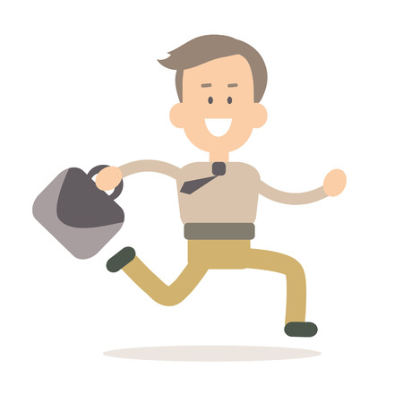 Businessman time management vector illustration in flat style 일러스트