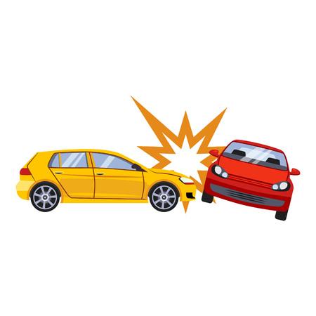 Assurance automobile et illustration vectorielle de risque d'accident Vecteurs