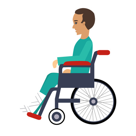 Disability Insurance Colourful Vector Illustration flat style 일러스트
