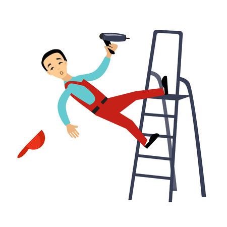 Injury at Work Insurance Colourful Vector Illustration