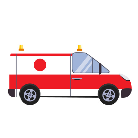Insurance and Ambulance Colourful Vector Illustration flat style