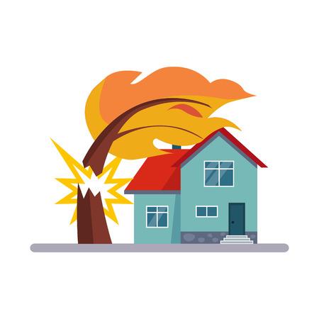 Estate Insurance Colourful Vector Illustration flat style Illustration