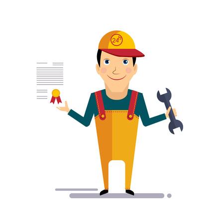 Assurance automobile et service Illustration vectorielle colorée