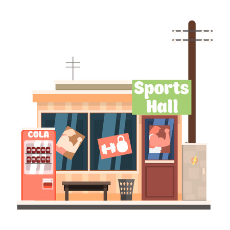 Sports Hall Front. Vector Illustration