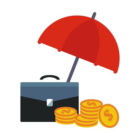 Financial Insurance Colourful Vector Illustration flat style Illustration