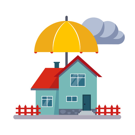 House Insurance Colourful Vector Illustration flat style