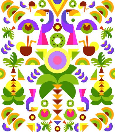 Tropical Applique, print on t-shirt. vector Illustration flat geometric style Illustration