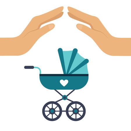 Baby Insurance Colourful Vector Illustration flat style