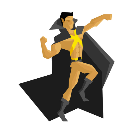 Superhero Vector Illustration Stock Vector - 118744448