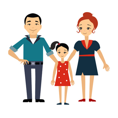 Family and Education Insurance Colourful Vector Illustration