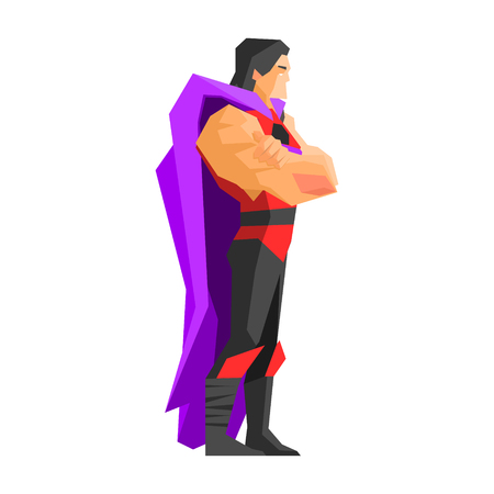 Superhero Profile Vector Illustration Stockfoto - 118744474