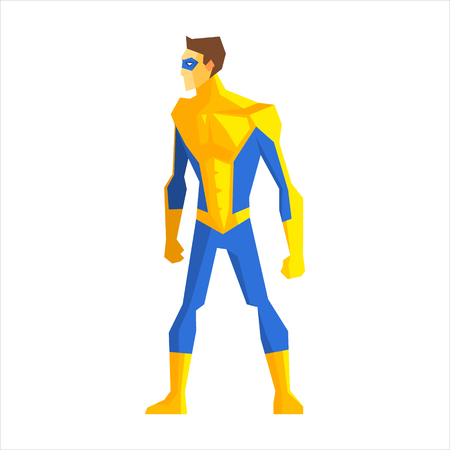 Superhero Wearing a Mask Vector Illustration