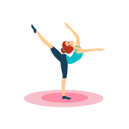 Gymnastics, Daily Routine Activities of Women. Colourful Vector Illustration Illustration