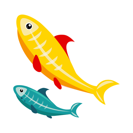 X-Ray Tetra. Funny Alphabet, Colourful Animal Vector Illustration