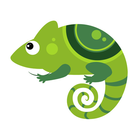 Iguana. Funny Alphabet, Colourful Animal Vector Illustration