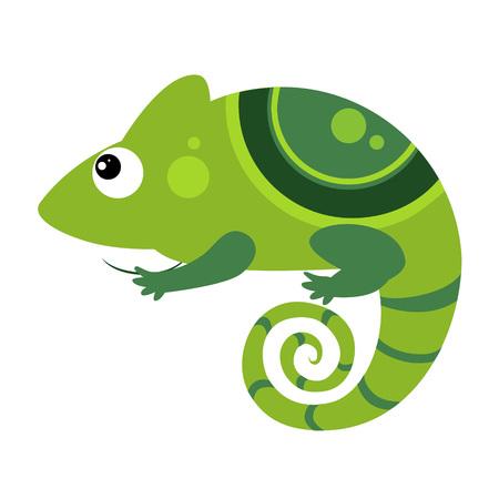 Iguana. Funny Alphabet, Colourful Animal Vector Illustration