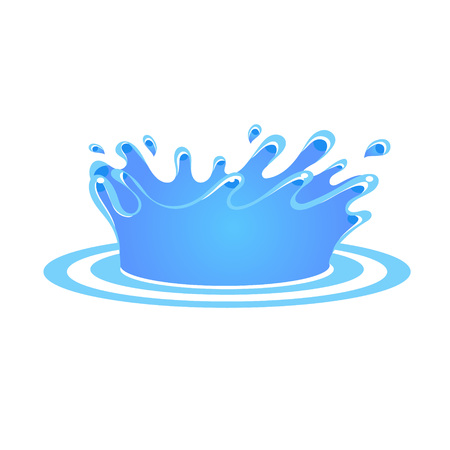 Fresh Water Splash. Vector Illustration Collection Badges and Stickers Stock Vector - 124490494