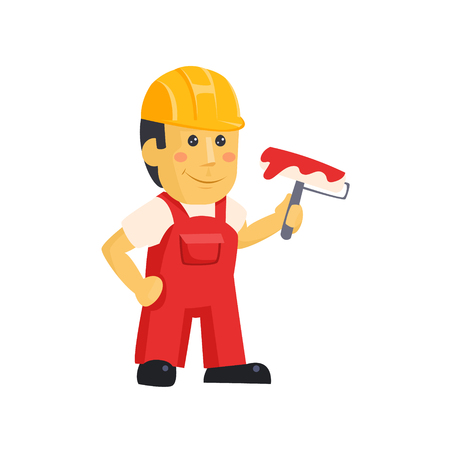 Painter Builder worker  characters with painting equipment Reklamní fotografie - 118744162
