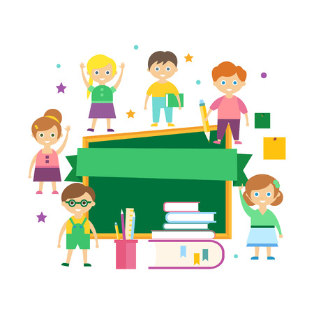 Kids Learning. Vector Illustration