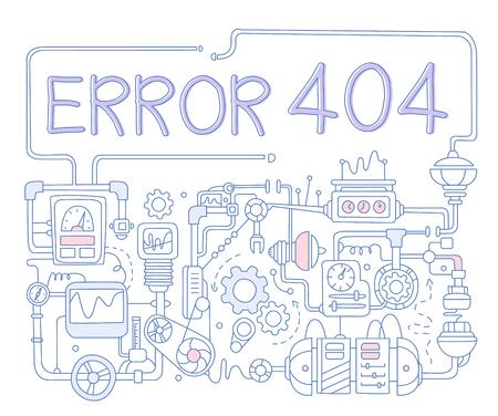 Error Infographics. Vector Illustration