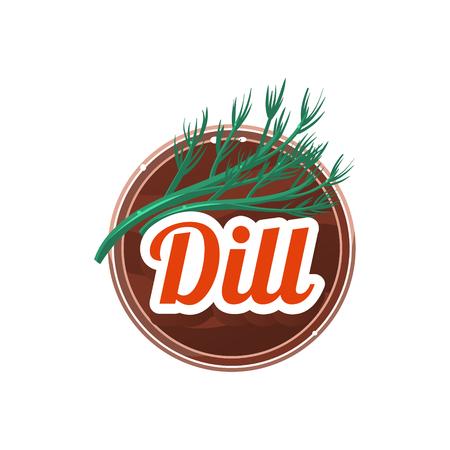 Dill Spice. Vector Illustration.