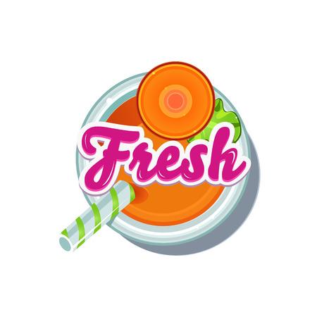 Carrot Fresh. Fruity Vector Illustration isolated on white Background