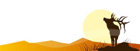 Aventura de caza. Ilustración vectorial Póster Colección de viaje