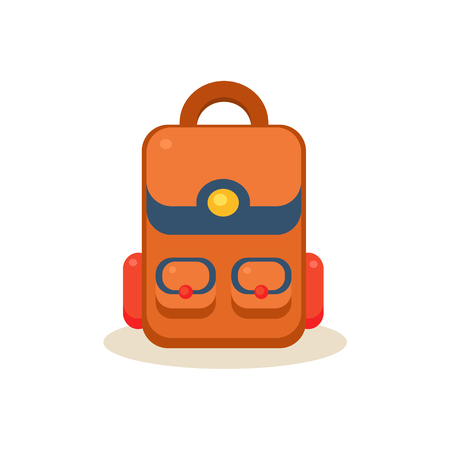 Backpack. Education Flat Design Colorful Vector Illustration
