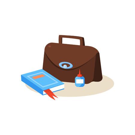 Teacher Workplace. Education Flat Design Vector Illustration