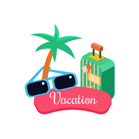 Exotic Vacation. Vector Illustration