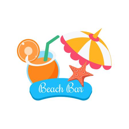 Beach Bar. Summer Vacation. Bright Vector Illustartion
