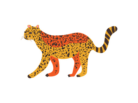 Cheetah, Guepard Wild Exotic African Animal Vector Illustration