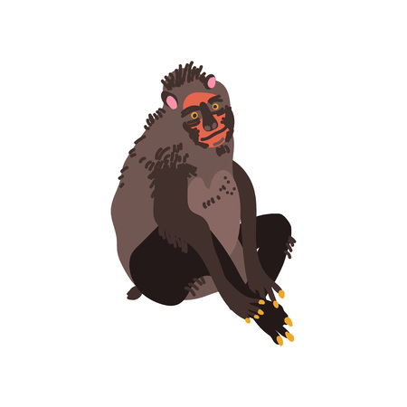 Chimpanzee Monkey Wild Exotic African Animal Vector Illustration