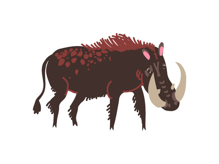 Warthog Wild Exotic African Animal Vector Illustration