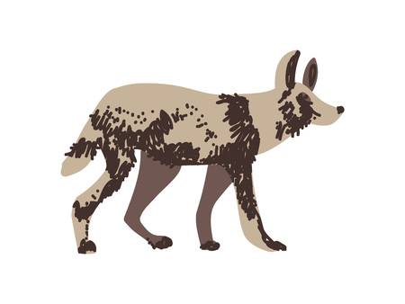 Hyena Wild Exotic African Animal Vector Illustration