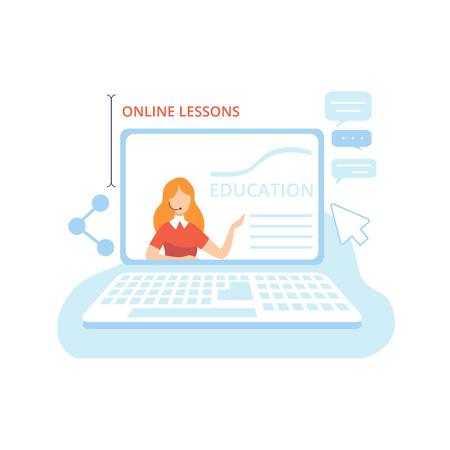 Blogger Creating Content , Commercial Blog Posting Technology Process, Social Media Marketing Vector Illustration on White Background. Ilustração