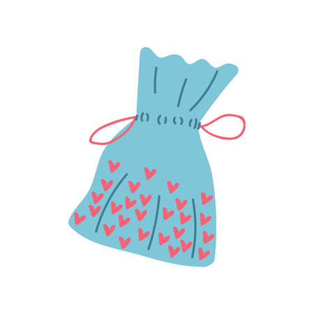 Textile Bag, Zero Waste Reusable Object, Eco lifestyle Concept Vector Illustration on White Background. Illusztráció