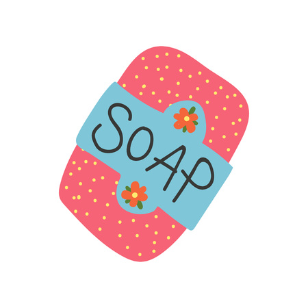 Soap Bar, Zero Waste Reusable Object, Eco lifestyle Concept Vector Illustration on White Background.