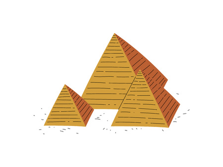 Great Pyramids of Egypt, Traditional Egyptian Culture Symbol Vector Illustration Banque d'images - 120442377